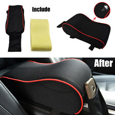 1X Universal Knitted Fabrics Car Center Console Armrest Pad Memory Foam Cushion