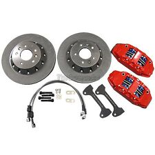 CX Front Brake kit 4 Piston Caliper 330x28 Rotor For 01-05 Honda Civic EM ES