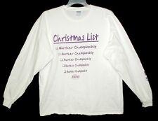 "Sz XL LOS ANGELES LAKERS Long Sleeve T-Shirt ""CHRISTMAS LIST"" Cotton Gildan"
