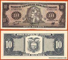 EQUATEUR billet neuf de 10 SUCRES Pick121 SEBASTIAN DE BENALCAZAR  1988 ECUADOR