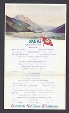 1926 P C ALASKA FOLD OUT MENU FROM S.S. PRINCE GEORGE UNPOSTED MINT VALE $150.