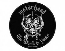 MOTORHEAD the world is yours 2011 WOVEN SEW ON PATCH official merchandise LEMMY