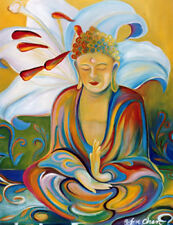 BUDDHA PAINTING - CALM AND PEACEFUL FINE ART PRINT