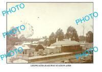 6x4 PHOTO OF OLD LEONGATHA RAILWAY STATION VIC c1920