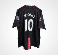 Manchester United 2007 - 2008 away football shirt jersey Nike #10 ROONEY size XL