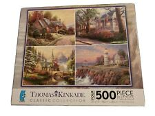 Thomas Kinkade Classic Collection 4 in 1 500 Piece Jigsaw Puzzles