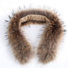 Genuine Fur Collar Women&Men Thick Racoon Fur Scarf/Shawl/Wrap Neck For Coat