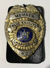 Obsolete Blue Knights Law Enforcement Badge Motorcycle Club Chapter 1 New York