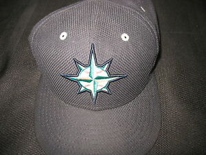 A.J.Happ Seattle Mariners Game Worn Cap 7 1/4 New Era Bin A