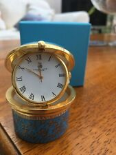 The Royal Collection Fine Bone China Trinket Box With Clock