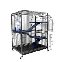 Pet Rodent Ferret Cage for Rabbit Chinchilla Hutch Small Animal 4 Level 100cm UK