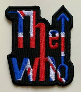 The Who Hard Rock Music Mod Union Jack  - Embroidered Iron on Sew on PATCH