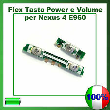 FLAT FLEX CAVO TASTO ACCENSIONE POWER BUTTON ON/OFF E VOLUME PER LG NEXUS 4 E960