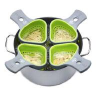 Kitchen Silicone Pasta Noodles Strainer Portion Control Basket Colander Tool New