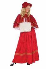 Rojo de Navidad Caroler Adulto Disfraz para Dama Tamaño Estándar Nuevo