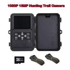 Cámara De Caza 16MP 1080P + tarjeta 16GB + 2x Belt Wild Scout Trail Camera Security