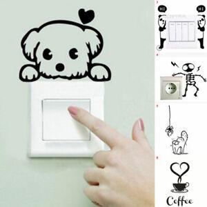 Kids Room Decoration 3D Wall Decal Home Decor Switch Sticker Cat Dog Mural Art