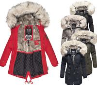 Navahoo Damen Winter jacke FVS1 Parka Mantel Anorak Baumwolle warm HONIGFEE