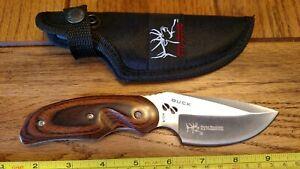 """Buck 480 Rocky Mountain Elk Foundation RMEF 8.25"""" Fixed Blade Knife 2008 MINT #7"""