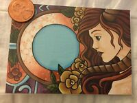 ACEO painting magic fantasy girl surrealism horned animal outsider collectible