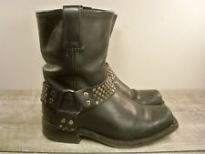 """Kenneth Cole """"Biker Babe"""" Harness Engineer Motorcycle Leather Women's Boots 6"""