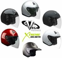 Vega VTS1 Helmet Open Face Motorcycle DOT Washable Liner XS S M L XL 2XL