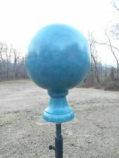 Verdigris Steel Finial- ball yard globe- Weathervane alternative- FREE SHIPPING!