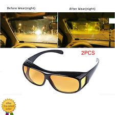 2PCS HD Night Vision Sunglasses Glasses Eyewear For Driver Men/Women Driving USA