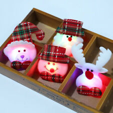 2pcs Christmas small gift glowing brooch toy party kindergarten decoration