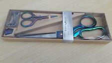 Milward Gift Set Rainbow Tone Dressmakers & Embroidery Scissors Thimble & Pins