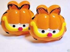 Handmade Garfield Cat Resin Cufflinks, Silver Plated Toggles, Gift Boxed!