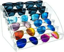6 Layer Sunglasses Organizer Clear Display Case Storage Tray Nail Polish New