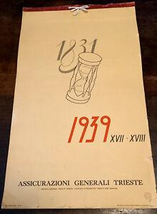 ASSICURAZIONI GENERALI TRIESTE CALENDARIO 1939-XVII- ILLUSTRATO DA ALDO RAIMONDI