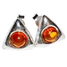 3.4g Authentic Baltic Amber 925 Sterling Silver Earrings Jewelry N-A5957