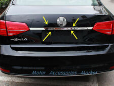 Stainless Steel Chrome Rear Trunk Lid Trim for VW Jetta Sedan MK6 2011 12 13 14