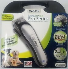 Wahl Lithium Ion Pro Series Cordless Dog Clipper Rechargeable & Quiet #9766 New