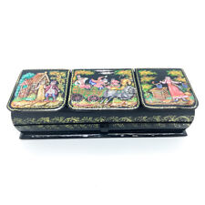 lacquer box fairy tales - Russian troika lovers palekh Hand painted #92-2