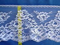 "Bridal Scalloped Lace Trim Edging Floral Lace Trim 6-3/4"" White 5 yds #W88"