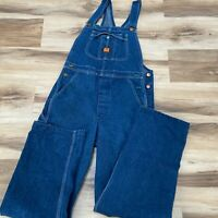 Big Ben Bib Overalls Mens 30 X 32 Vintage Button Fly Made in USA 100% Cotton