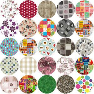 ROUND Wipe Clean PVC Tablecloth Oilcloth Vinyl Oilcloth - 135cm Circle