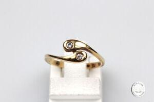 Ring 14 Carat Gold Diamonds Snake Ring Gold Ring Finger Ring Ladies