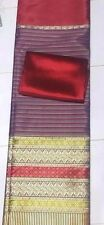 !Beautiful Rayon Silk Fabric Synthetic Thai Tradition for wedding dress 2pcs Red