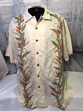 CARIBBEAN Relax Fit Men's Linen/Silk Cream Shirt X-Lrg NWTO!!!!!!