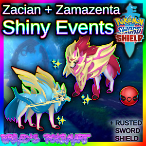 ✨Shiny Zacian + Zamazenta✨ Pokemon Sword & Shield Untouched Events 🚀PREORDER🚀