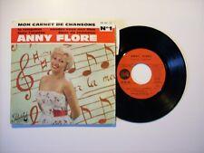 45 tours Anny Flore – Mon carnet de chansons N°1 (dédicace/autographe)