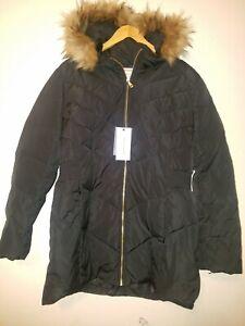 Cole Hann Women  Plus size Faux Fur Hooded Puffer Coat  Black sz  XXL ( sz 2x)