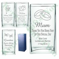 Engraved Rectangle Vase 70th 75th 80th 85th 90th Birthday Gift Present