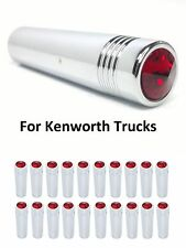 """(Set/20) for Kenworth Red Toggle Switch Extension 2-1/4"""" Long, Chrome Metal"""