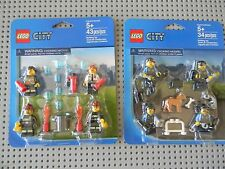 Lego City - Police and Fire Accessory sets - 8 Minifigures - New in Package