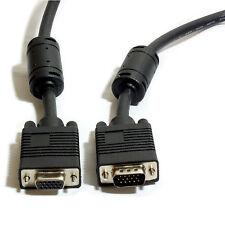 15m Macho A Mujer Extensión Vga Svga Cable-Monitor De Pc